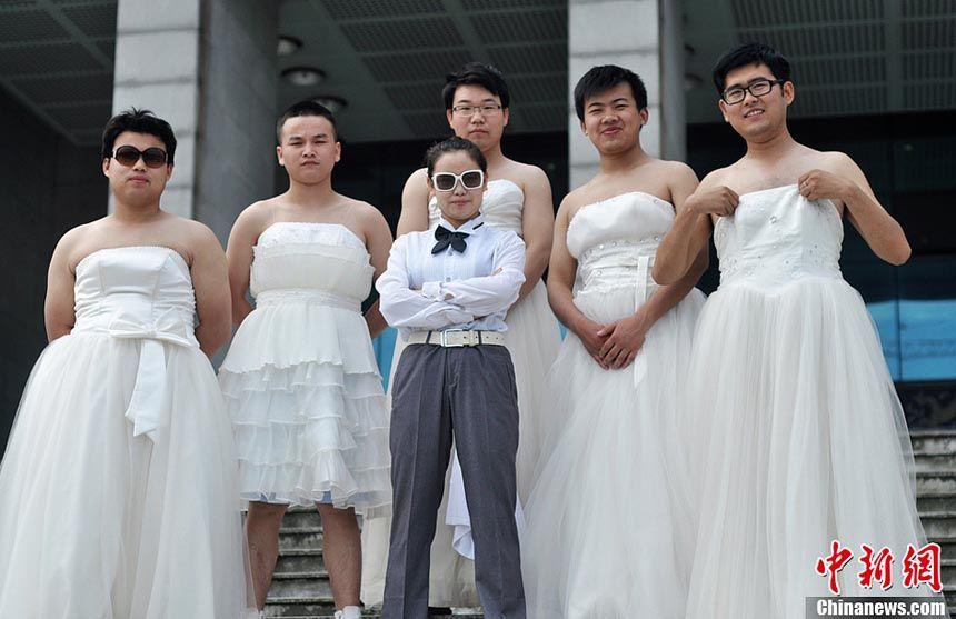 Unique Graduation Photos Male Brides China Org Cn Bride Men Wearing Dresses 2016 Wedding Dresses