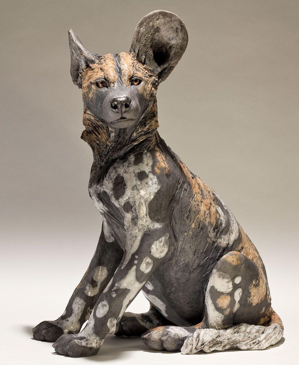 Wild Dog Sculpture Nick Mackman Animal Art