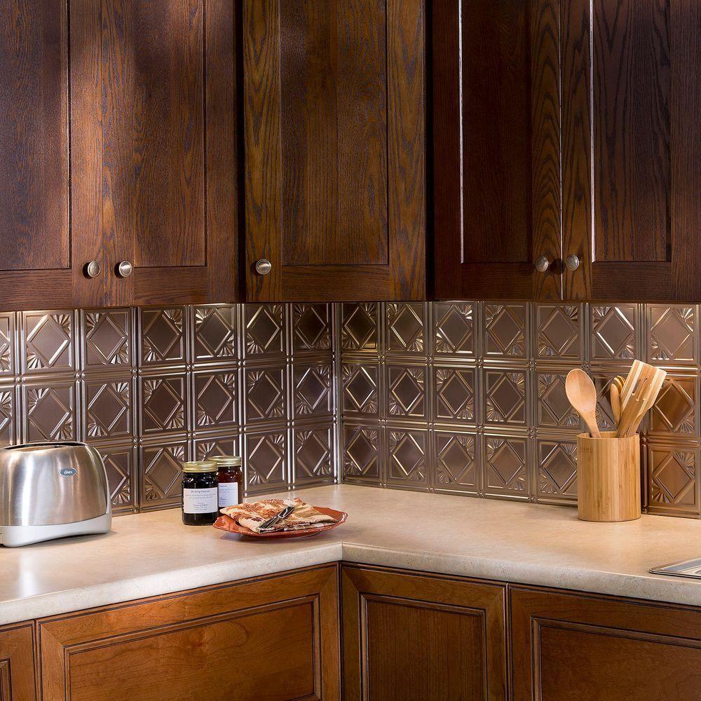 - Fasade 24 In. X 18 In. Traditional 4 PVC Decorative Backsplash