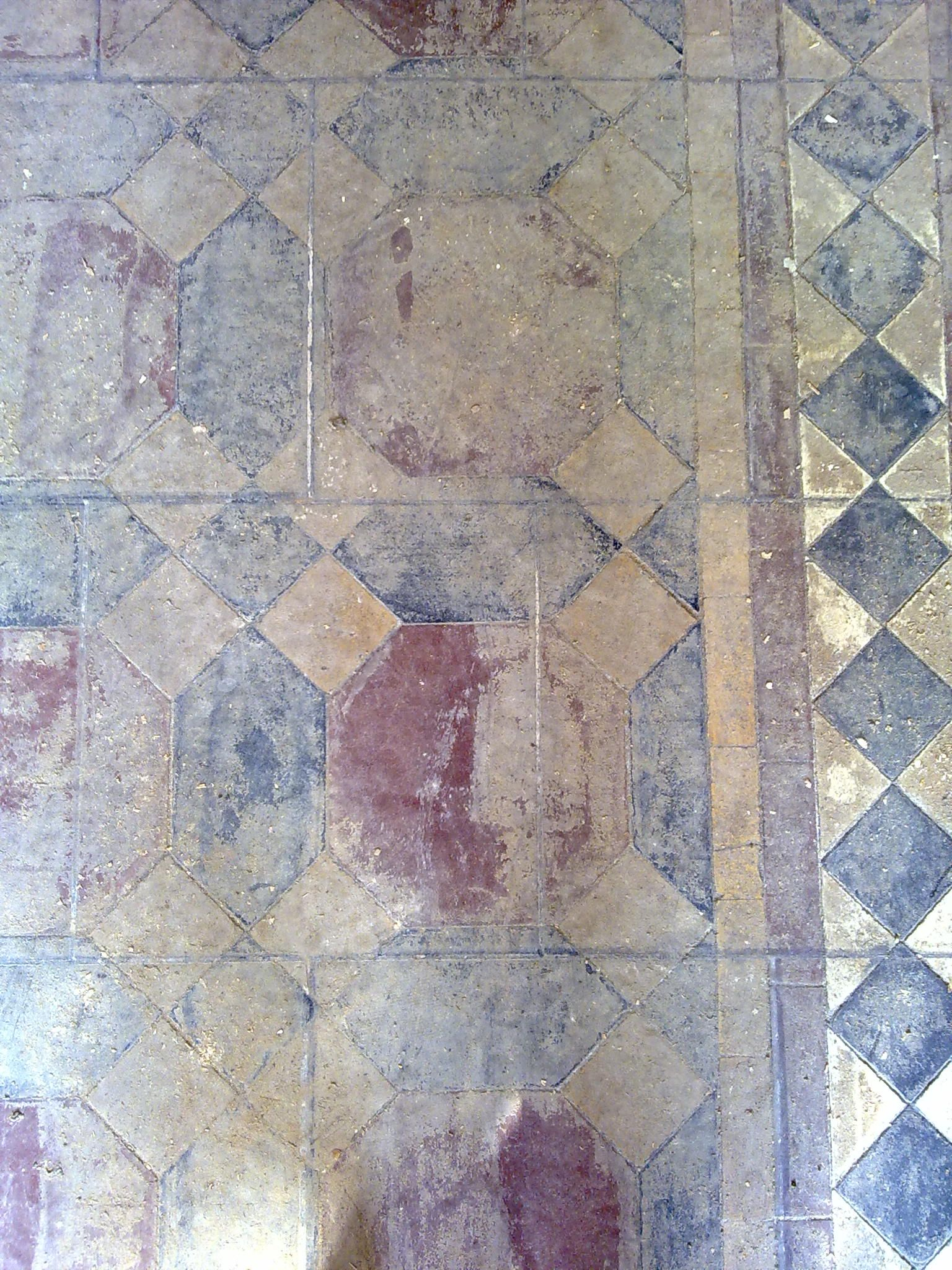 Victorian floor tiles tiles had been covered with glue victorian tiles cleaned and restored by floor restoration specialists victorian tile floor cleaners based near st albans and service herts beds doublecrazyfo Gallery