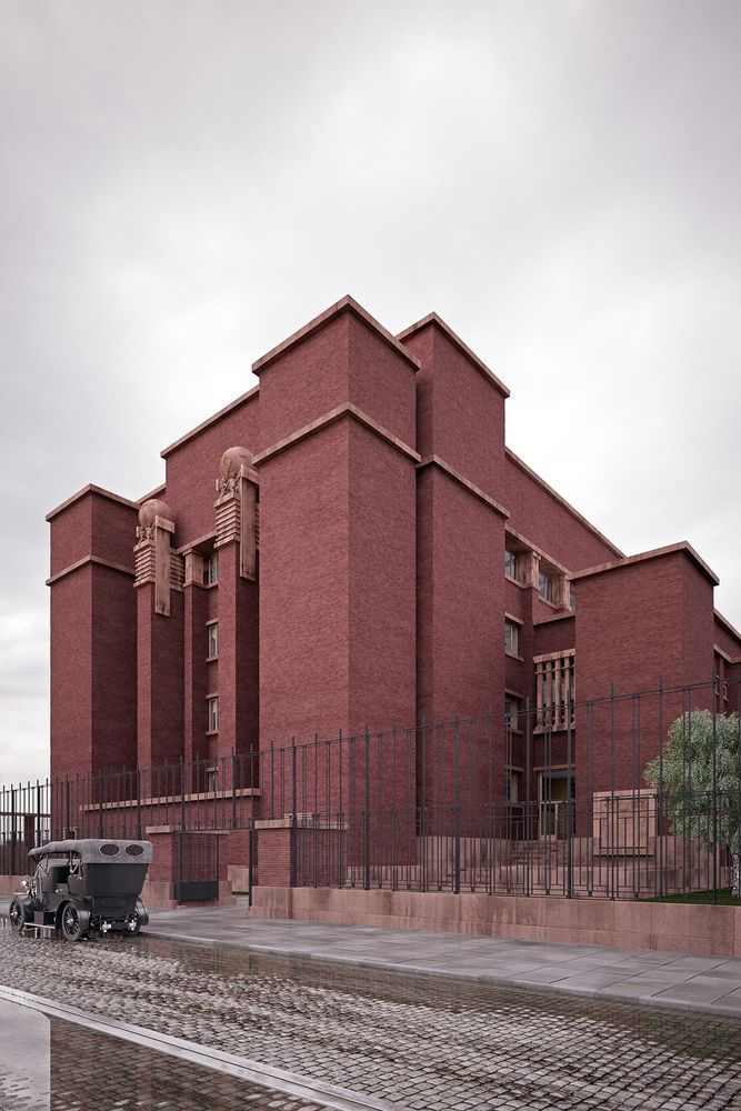 Gallery of See Frank Lloyd Wright's Missing Works Recreated in Photorealistic Renders - 1