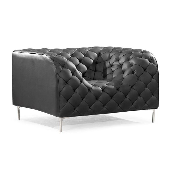 Escobar 17 5 Quot Lounge Chair Black Armchair Modern Chairs Furniture