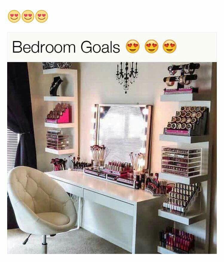 Betere Beautiful ikea makeup room … | Ideeën voor thuisdecoratie FB-72
