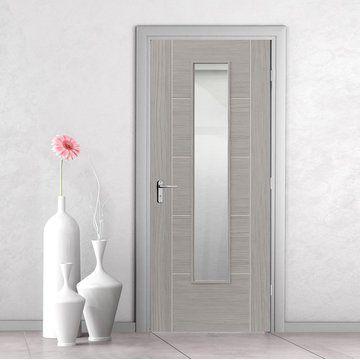 JB Kind Doors - Laminates Lava grey internal door with clear safety glass & Laminates Lava Painted Door With Clear Safety Glass is Prefinished ...