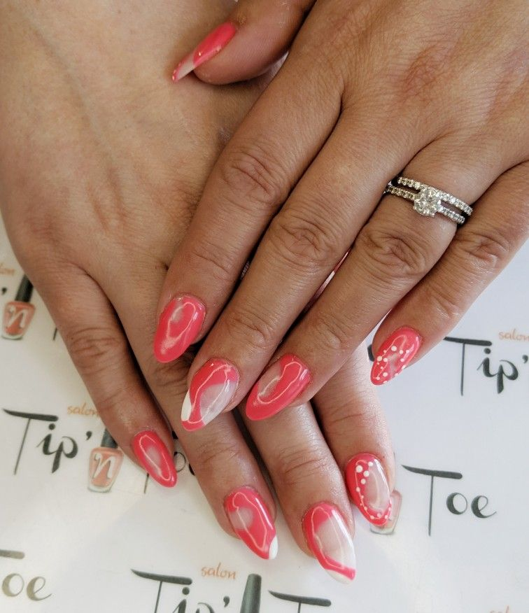 Clear pink nails classy nails short length nails in 2021