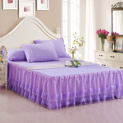 Pin On Home Textile, Purple Queen Size Bed Skirt