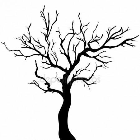 Baum Silhouetten Baum Malen Baum Illustration Scherenschnitt Baum