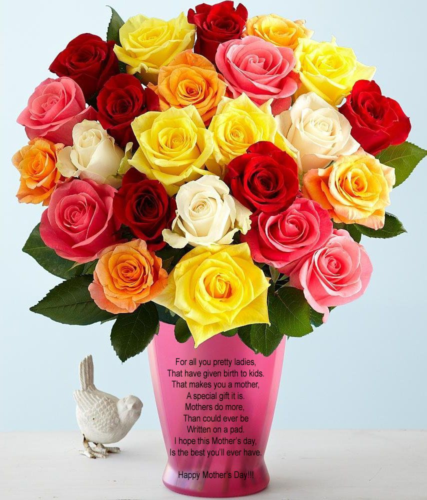 Mother's Day Greeting For All Mom's Mothers day roses