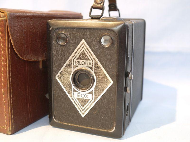 Bilora Box Cased Vintage Box Art Deco Camera