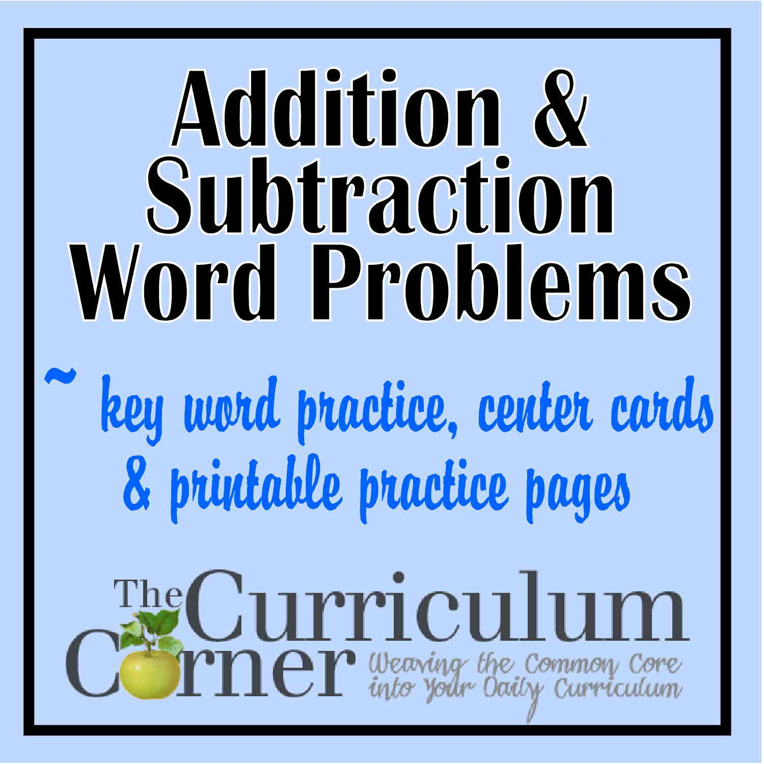 Addition Amp Subtraction Word Problems
