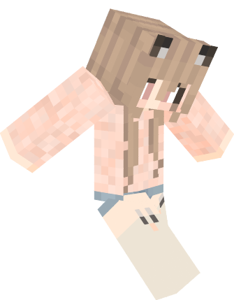 Pastella Cute Kawaii Cat Girl Nova Skin Minecraft - Skin para minecraft pe nova skins