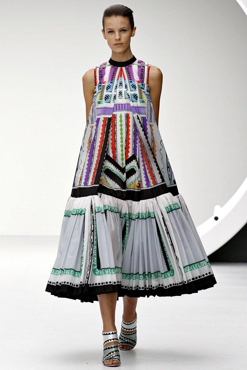 Mary Katrantzou Fall, Digital Print Dress, Digital Textile