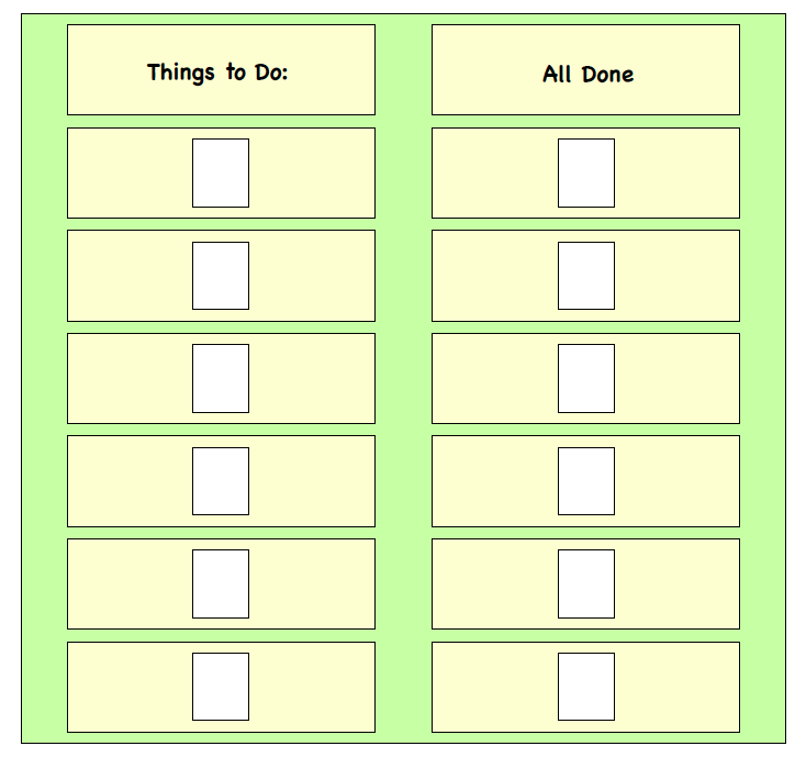 Visual Supports - Things to Do Board - Task Completion Board ...