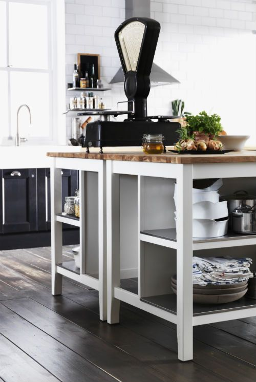 IKEA Fan Favorite: STENSTORP kitchen island. A free-standing kitchen island that adds an extra work space and tons of extra storage.