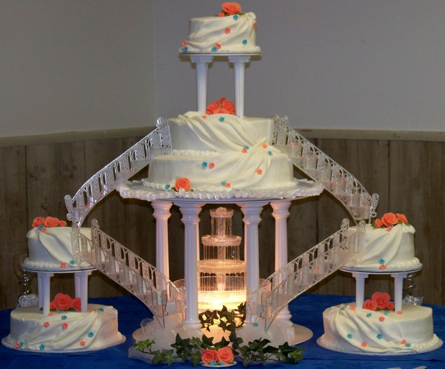 Wedding Cakes With Fountains And Bridges Birthday Cake Cake