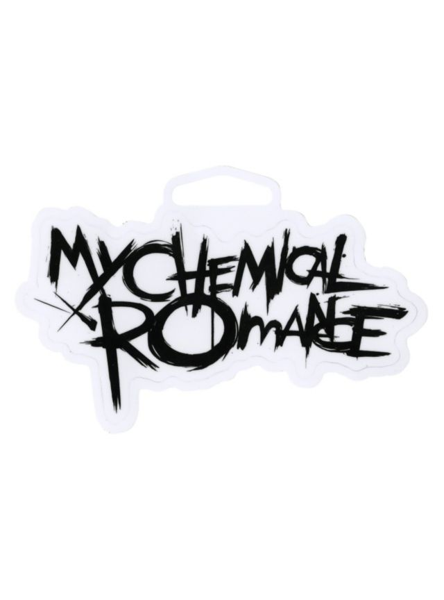 My chemical romance logo sticker hot topic
