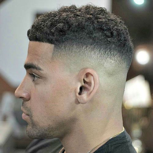 High Quality High Skin Temple Fade With Curly Hair