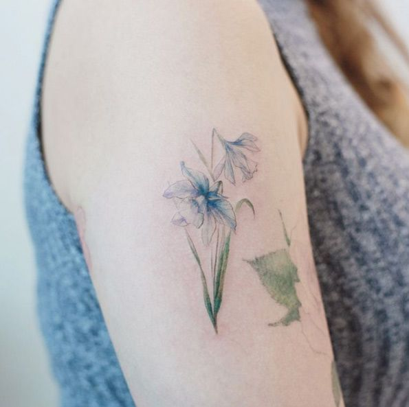 Daffodil Flowers By Tattooist Flower Daffodil Tattoo Beautiful Flower Tattoos Tattoos
