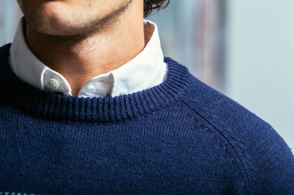 How to wear a shirt under a sweater , Tips for wearing