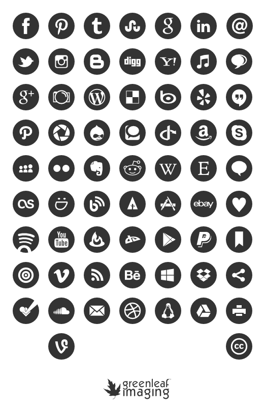social media icon freebies building owned media channel