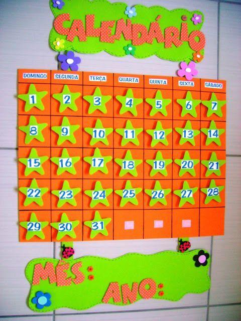 Calendario Para Ninos De Kinder.Educacao Infantil Criativa Modelo De Calendario Para