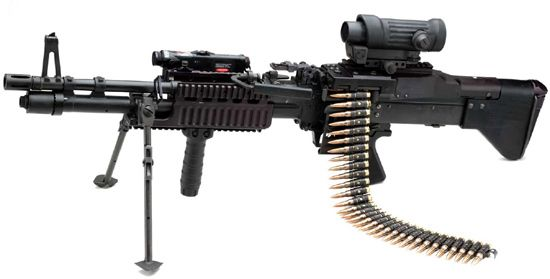 M60E4 Light Machine Gun used by the Navy Seals  Well    The