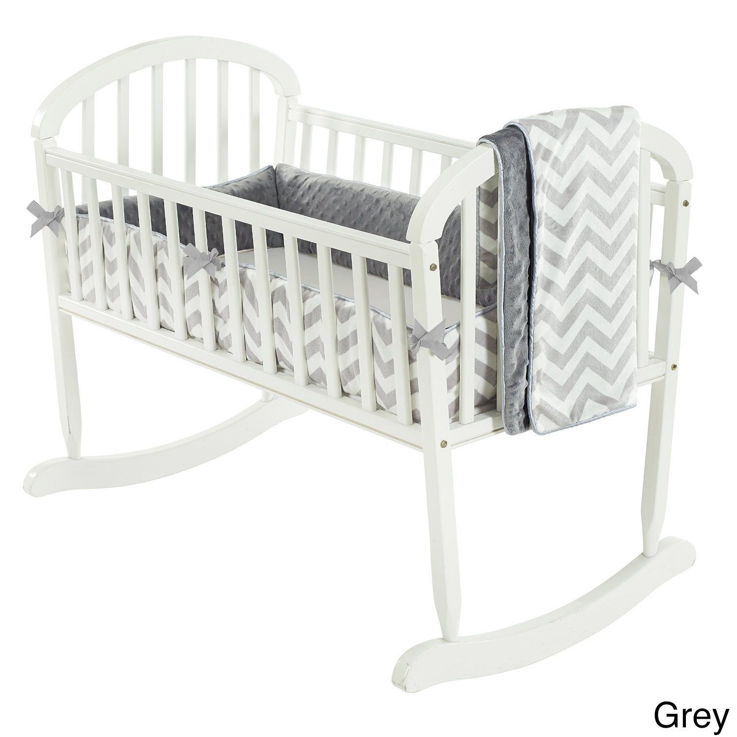 Minky Chevron Cradle Bedding baby Cradle bedding, Baby