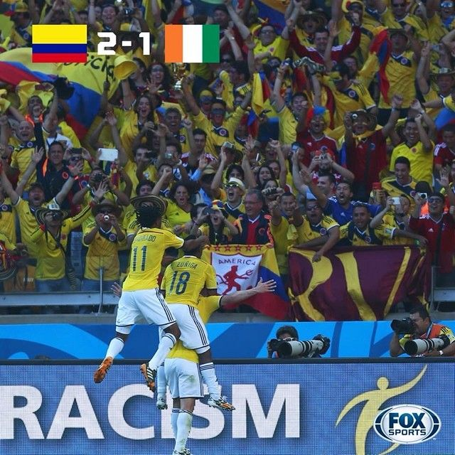 Jamesrodriguez10 And Quintero Score As Colombia Have One Foot In The Worldcup Knockout Stage Fifa World Cup World Cup Mls Soccer