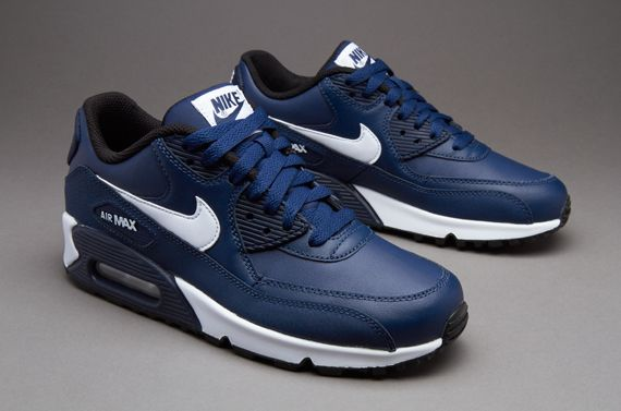 Nike Sportswear Air Max 90 LTR (GS) - Midnight Navy   White   Black ... 502bbb2b64