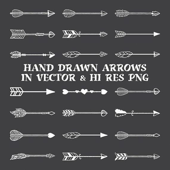 Hand Drawn Arrow Clipart Arrow Hand Drawn Clipart Boho Rustic Arrow Clipart Clip Art Png Vector Eps Ai Design Elements Digital Download How To Draw Hands Hand Drawn Arrows Arrow Clipart