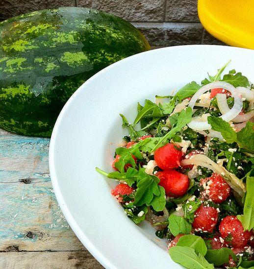 Carol's Watermelon Salad - jillianharris.com