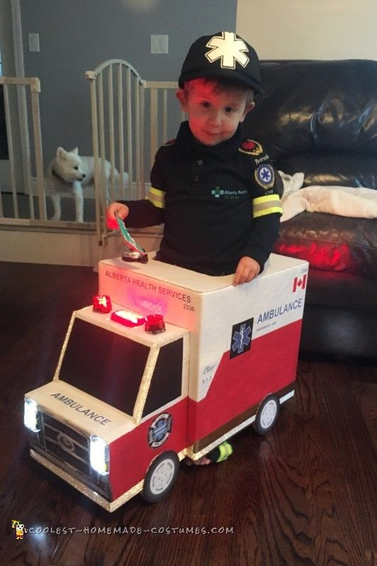 Awesome Toddler Paramedic And Ambulance Costume Coolest Homemade