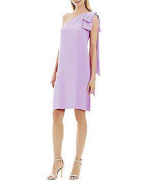 Nicole Miller New York One-Shoulder Bow Dress