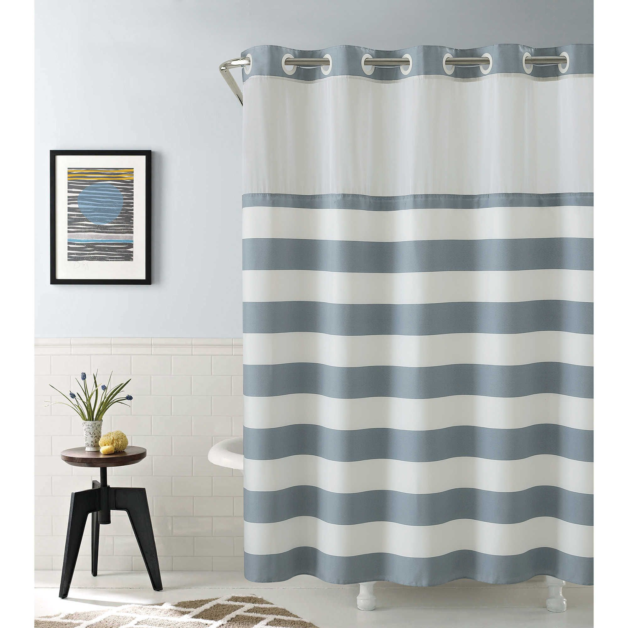 Hookless Coral Reef Shower Curtain In Grey Mist Hookless Shower