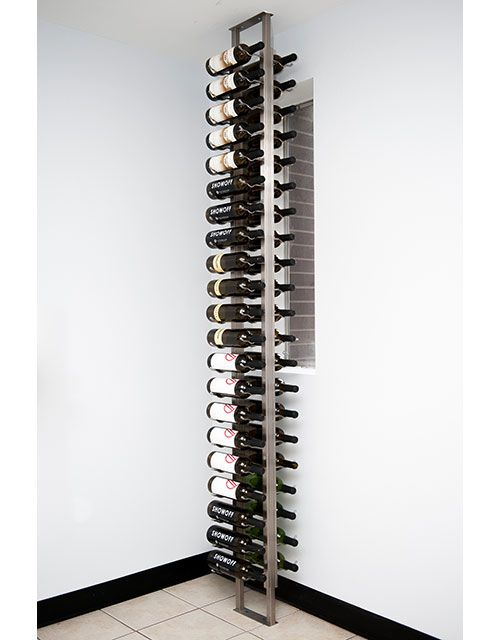 Floor To Ceiling Mounting Frame Magnum In 2020 Metal Wine Rack Wine Display Wine Rack Design