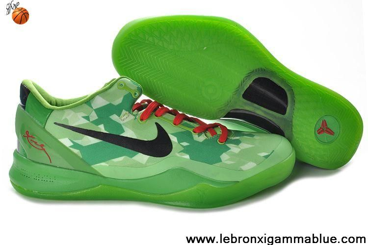 Sale Cheap Nike Zoom Kobe VIII (8) 555035-701 Green Red Basketball Shoes