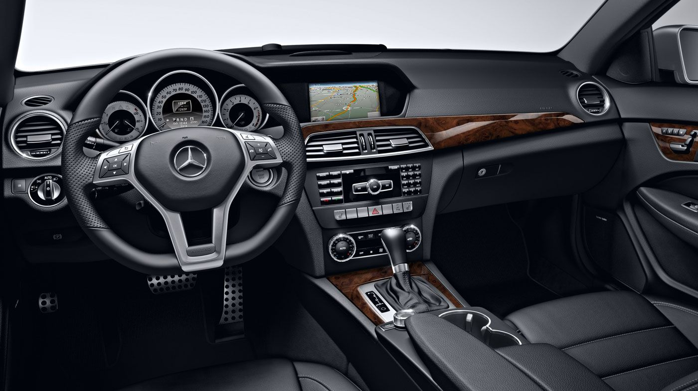 Mercedes C250 Black Leather Interior Carros Mercedes Auto