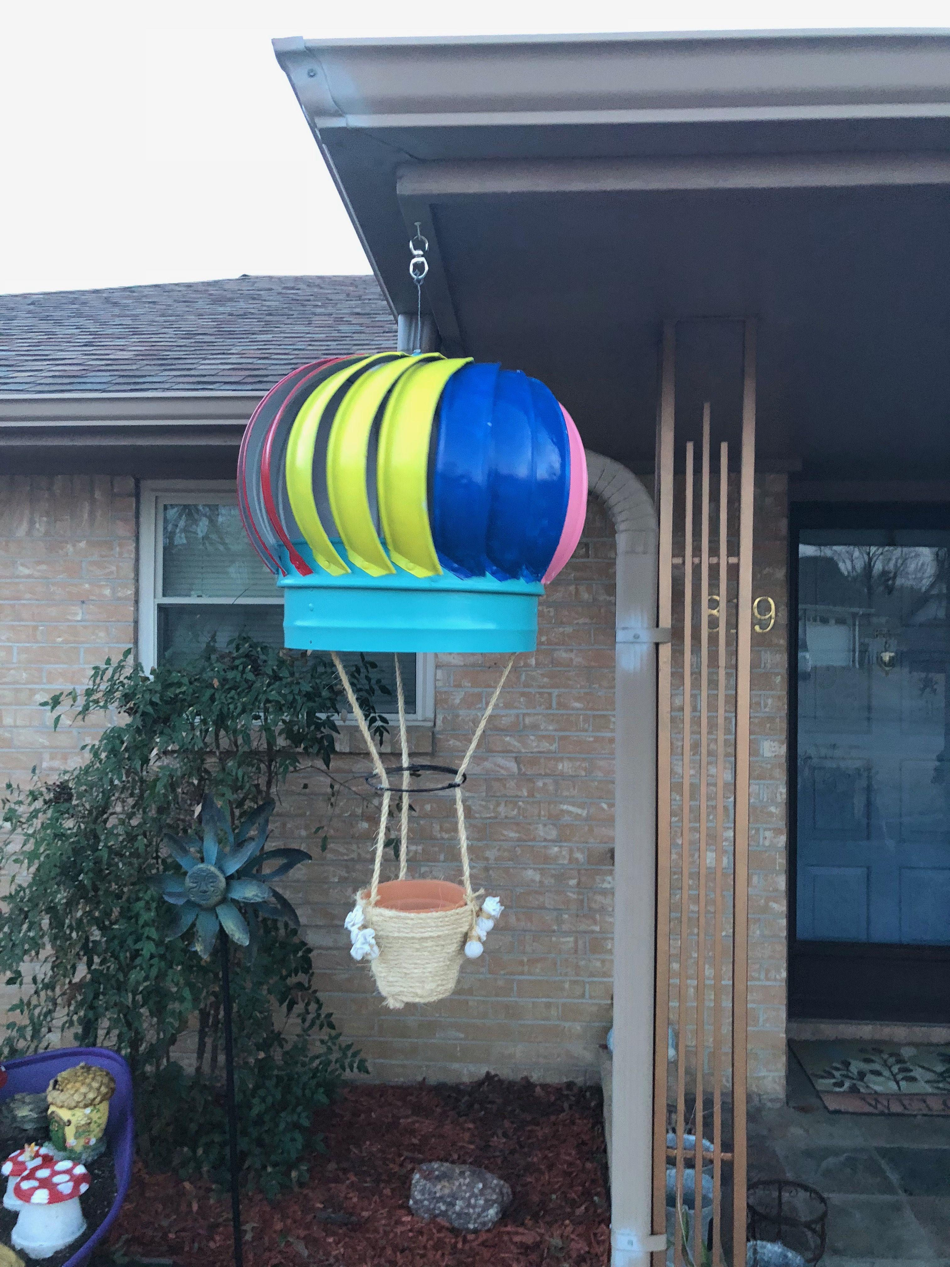 Roof Turbine Hot Air Balloon Planter Roof Turbine Planter