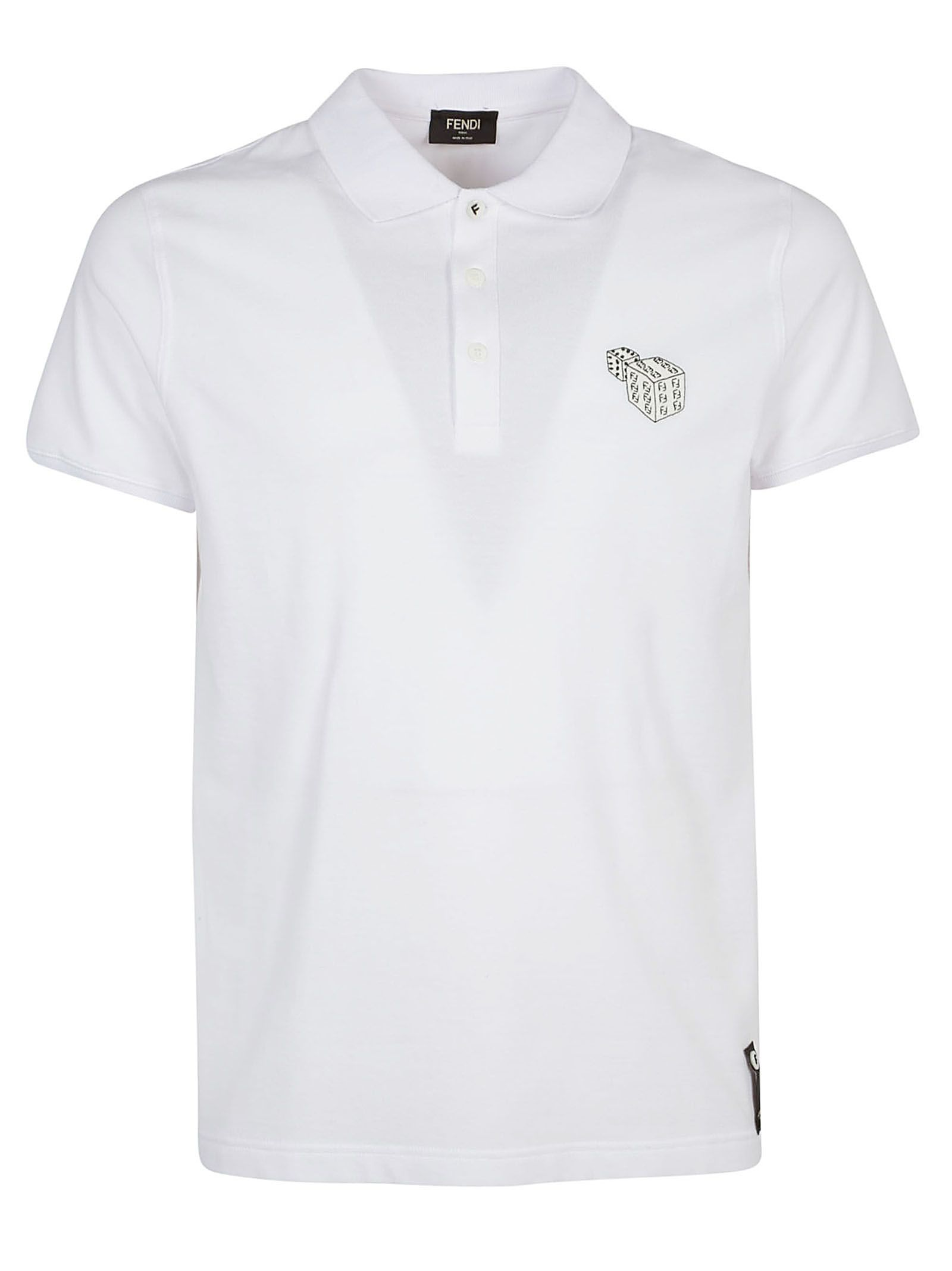 a8649467c1a  fendi  cloth Embroidered Polo Shirts