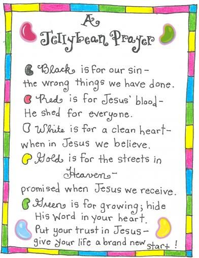 The Jellybean Prayer Free Printable Tag From Hy Home Fairy Chloe Just Made This Poem On Friday At Pre K They Painted Their Finger