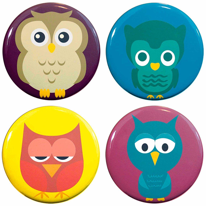 Buttonsmith® Owls 1.25' Refrigerator Set