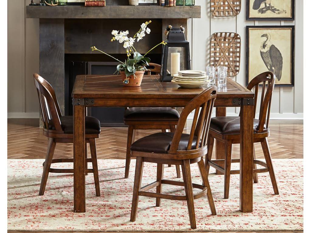 Pulaski Furniture Heartland Falls Windsor Gathering Dining Set