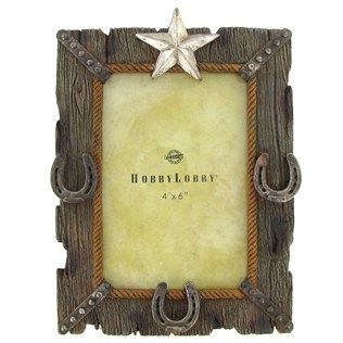 4 X 6 Polyresin Star Horseshoe Frame Shop Hobby Lobby Photo Frame Shop Frame Art Craft Store