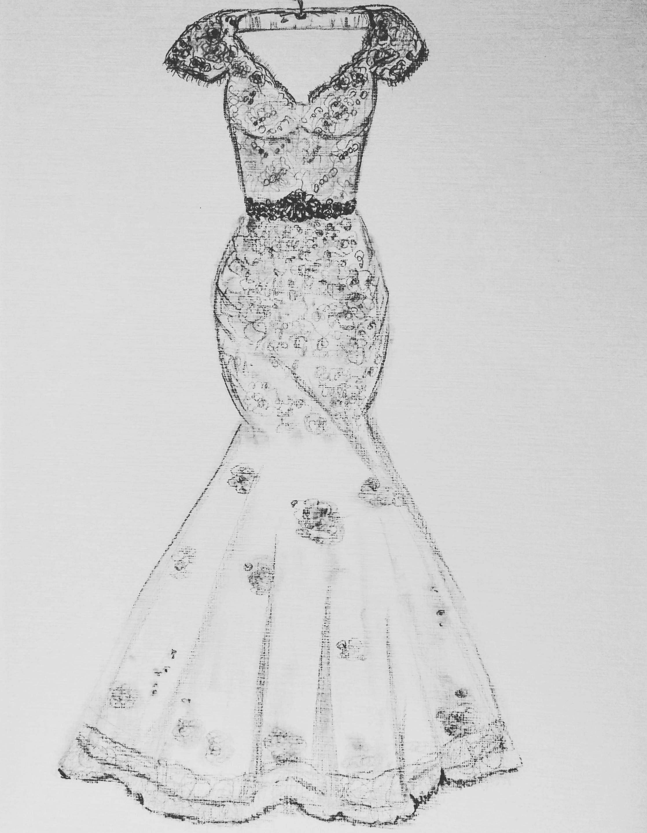 Wedding Dress Sketch Commission Illustration 1st Anniversary Custom Gift Wedding Dress Sketch Bridal Gift Dress Sketch From Photo Wedding Dress Sketches Custom Wedding Dress Sketch Wedding Dress Drawings
