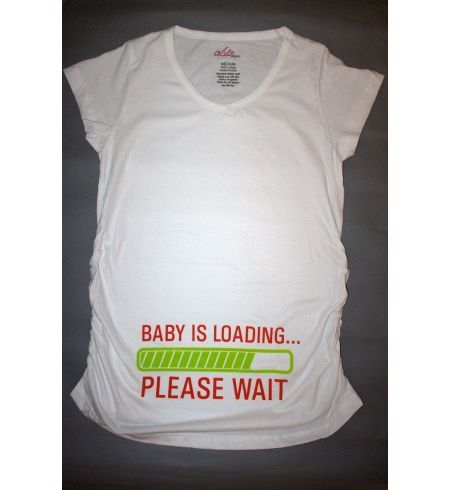 Baby is Loading ... Please Wait - Maternity tee