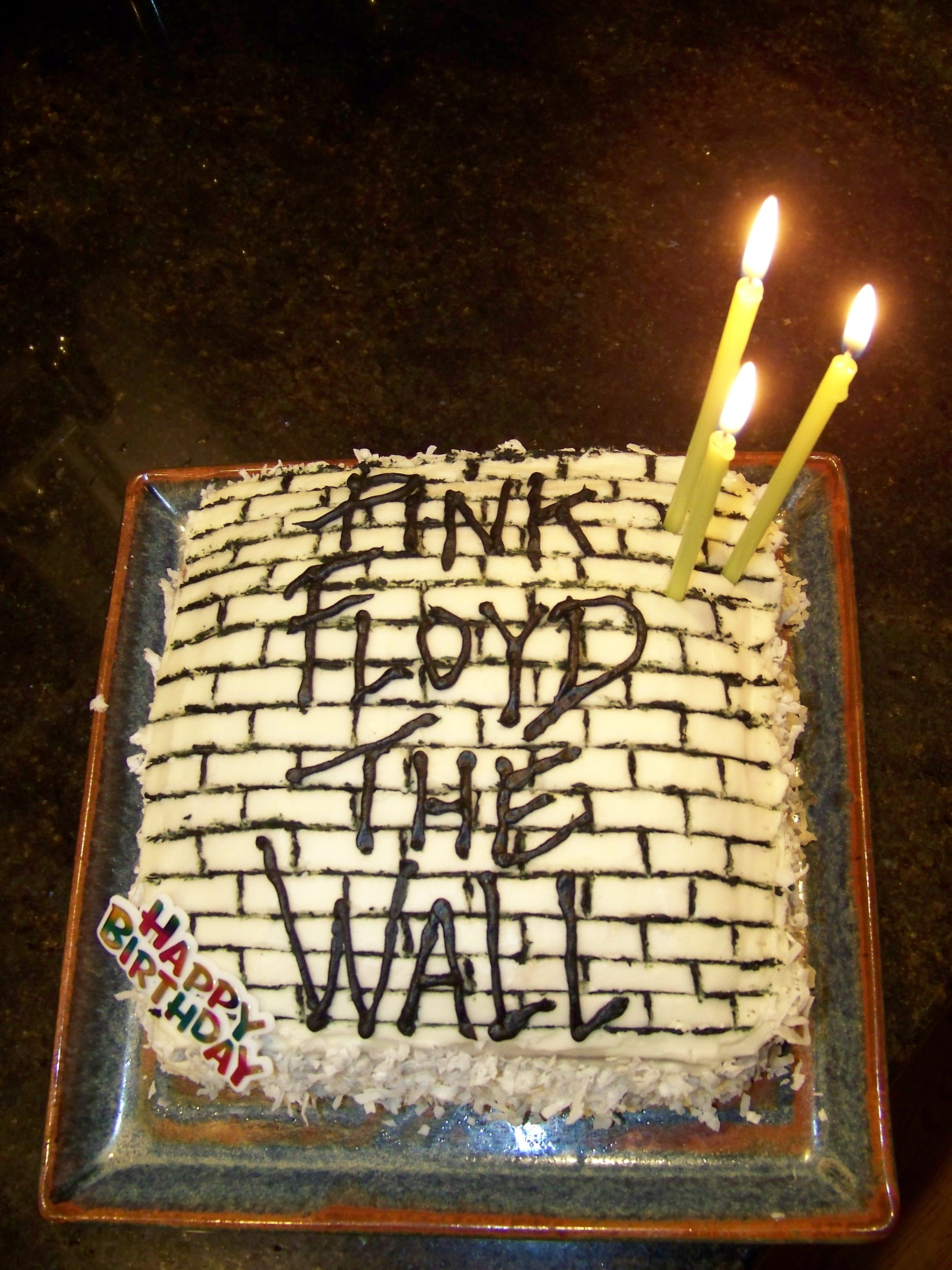 My Sons 33rd Birthday Cake Made By Me His Mom He Is A Pink Floyd 1 Fan