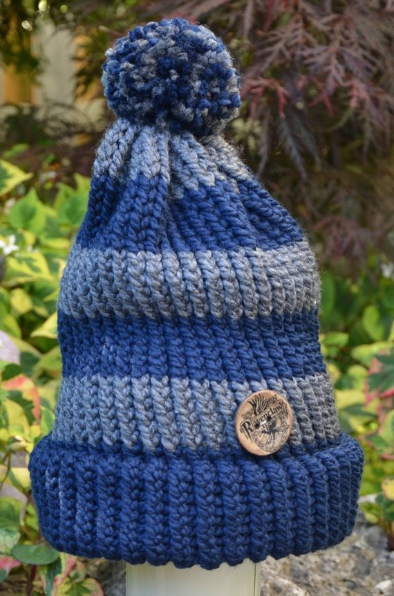 e2622858f4b62 Harry Potter Ravenclaw Adult Knit Hat - Two Styles in 2019 ...