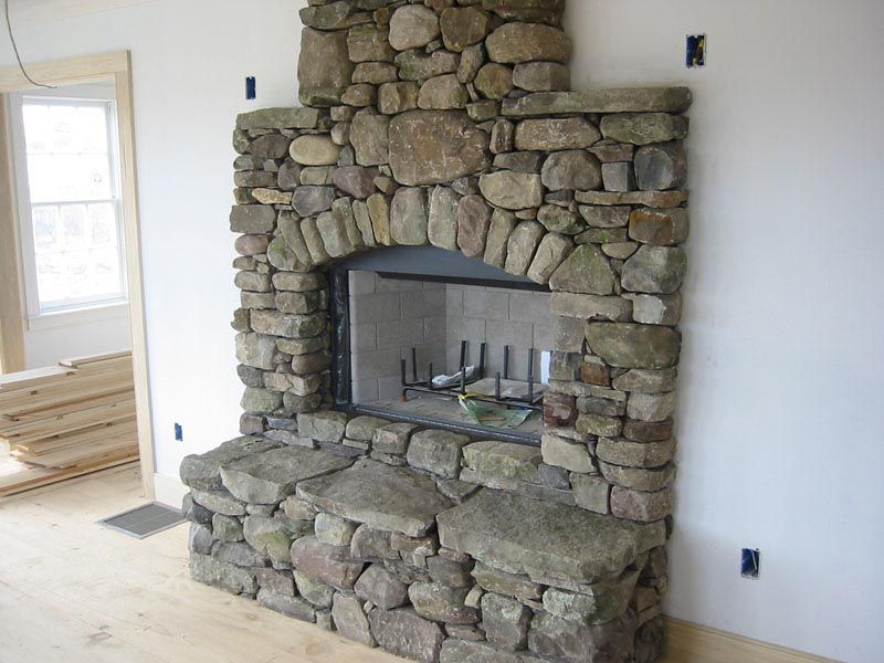 How To Build A River Rock Fireplace Rustic Stone Fireplace Natural Stone Fireplaces Rock Fireplaces