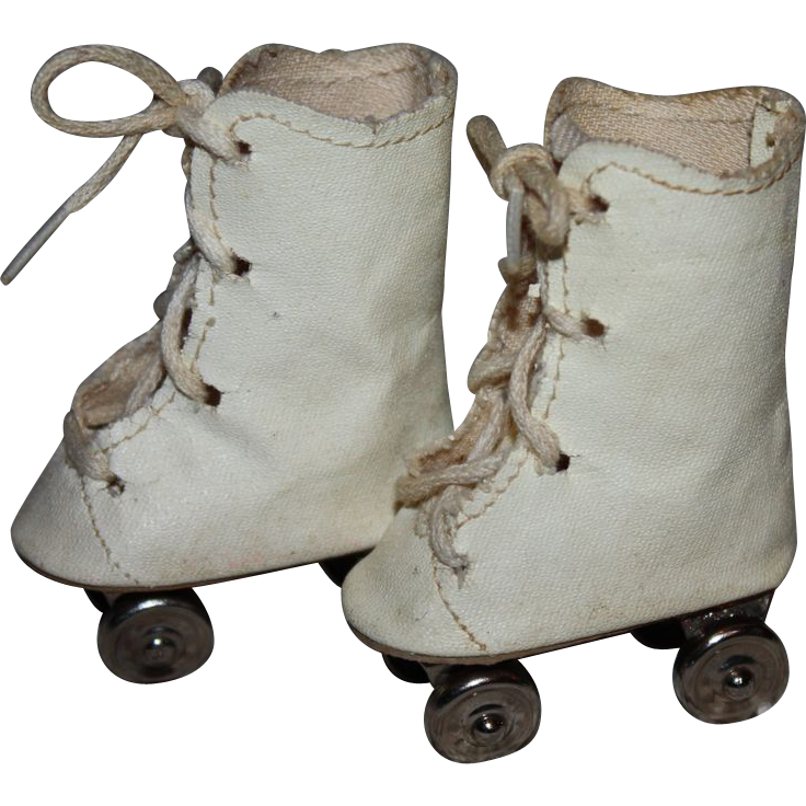 Oilcloth Rollerskates for Composition and Hard Plastic Dolls 1940