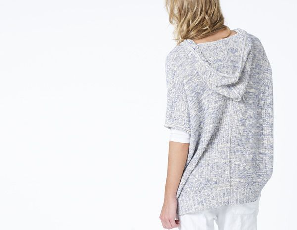 HOODED BEACH PONCHO - WOMEN - James Perse - WIO3765